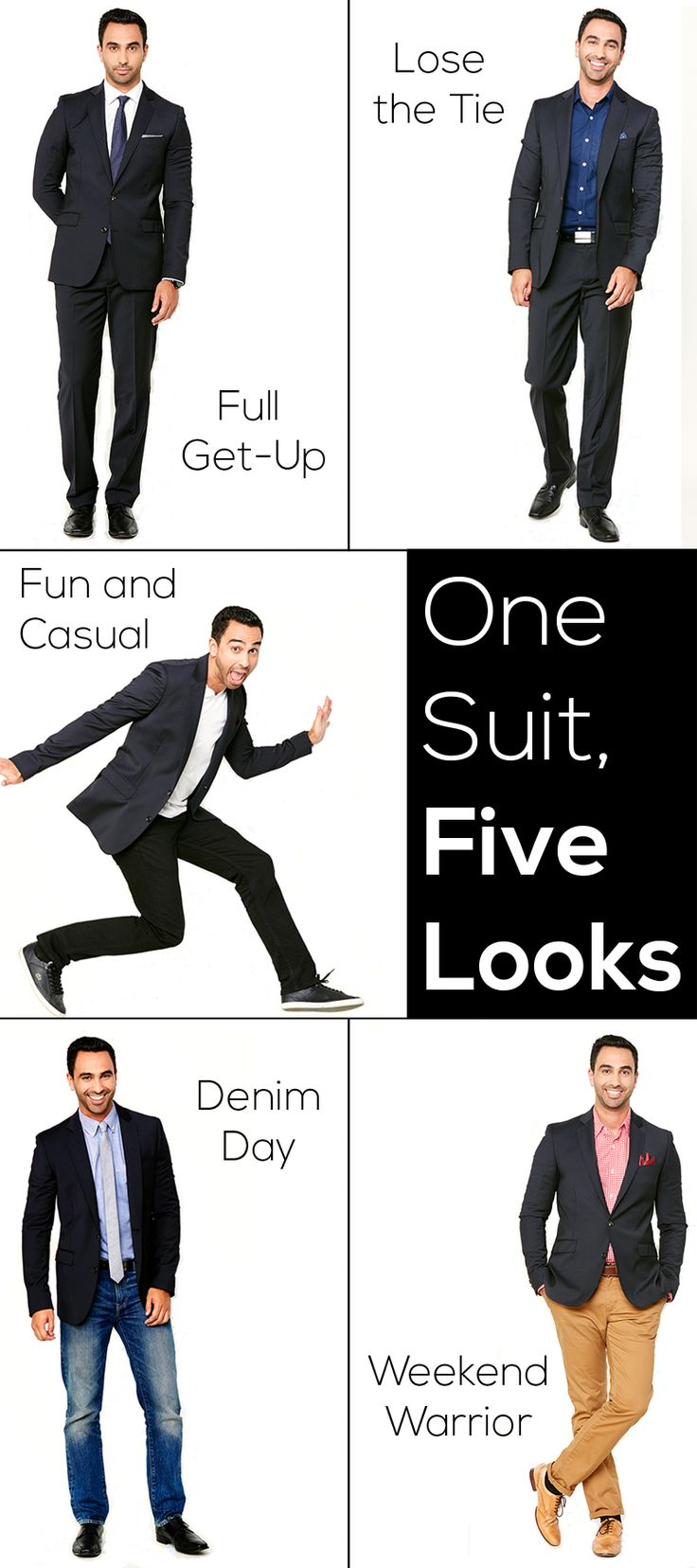 One suite, five looks. #mensfashion #style