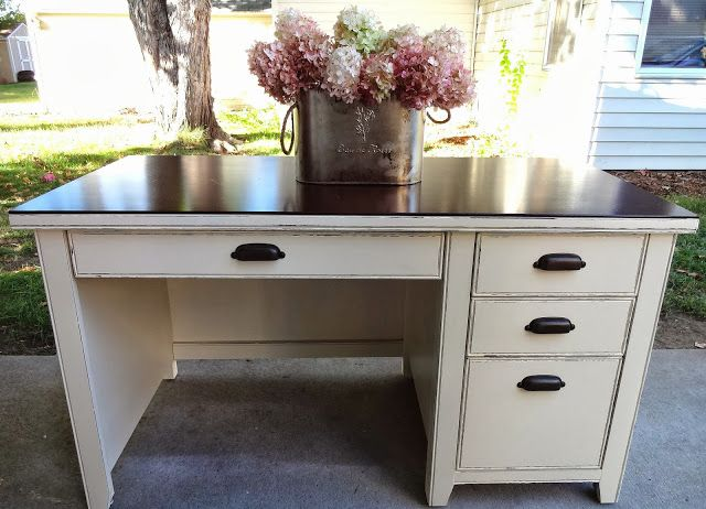 {createinspire}: Cottage Cream Desk Redo