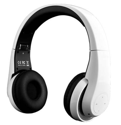 BTHS800 Groovez White HD Bluetooth Headphones..  These headphones make it possible to enjoy stereo music wirelessly from Bluetooth A2DP devices. With headset control functions for play/pause, previous/next track, volume up and volume down they are easy to use.  The embedded microphone allows hands-free conversation from Bluetooth-enabled mobile phones and there is an automatic music pause function during incoming calls.