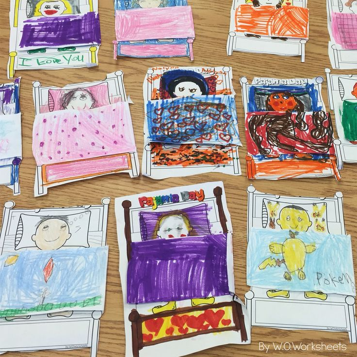 Pajama Day Activities and Craft! Perfect way to celebrate pajama day in the classroom.