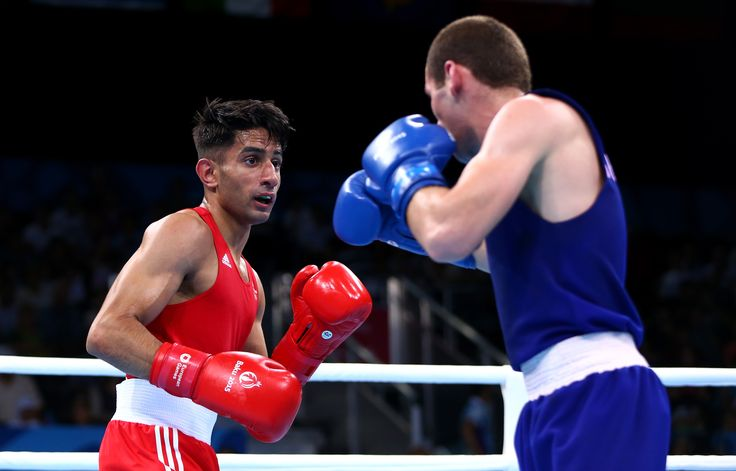 Qais Ashfaq in his bout against Giorgi Gocatishvili of Georgia in the Men's Bantam 56kg on Day 5 of #Baku2015.