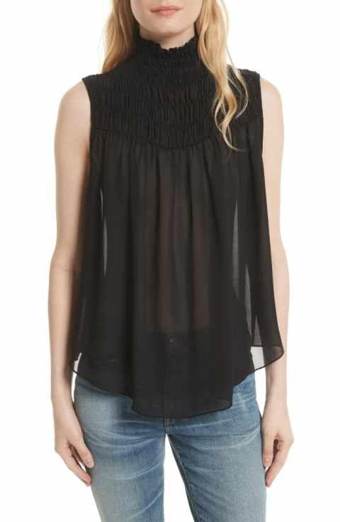 aba6611ba07260 FRAME Smocked Blouse | Fashion Fix | Smocking, Tops, Women