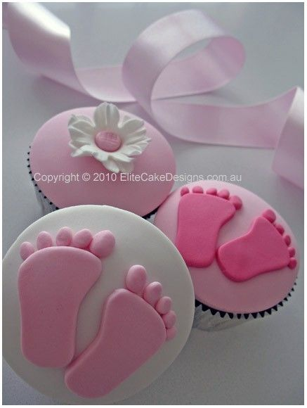 Beautiful cupcakes for my girl baby shower! by My Practical Baby Shower Guide