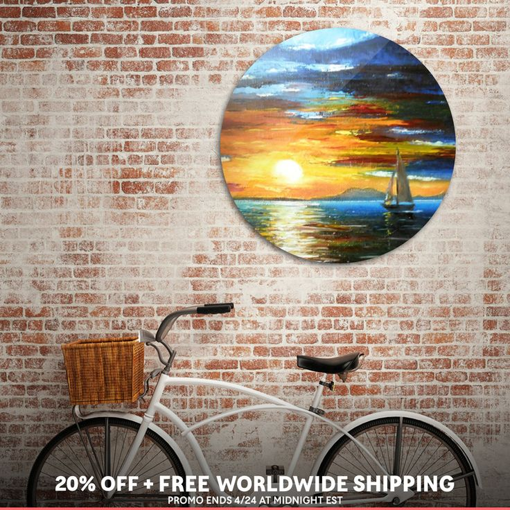 Discover «Sunset On The Lake Balaton», Exclusive Edition Disk Print by Ildikó Csegöldi Décsei - From $85 - Curioos