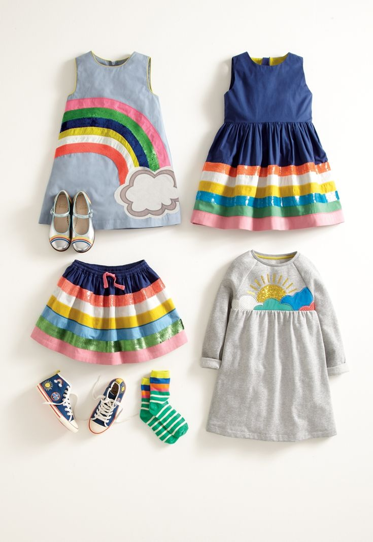 Kids rainbow clothing store