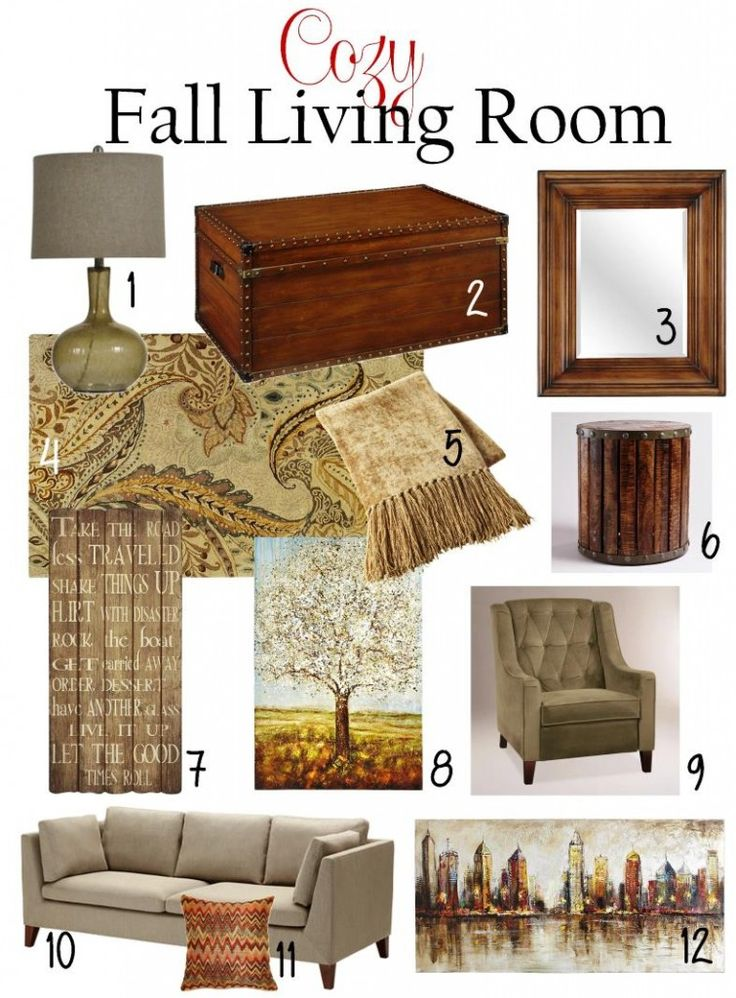 Warm And Cozy Dining Room Moodboard: 17 Best Ideas About Fall Living Room On Pinterest