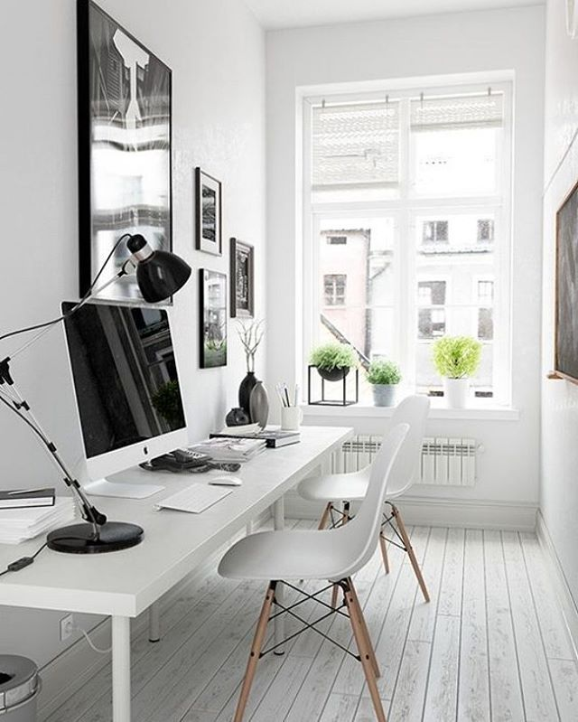 Workmode weekend. via @eleni #scandinavian #interiors #minimalism #simplicity #workstation