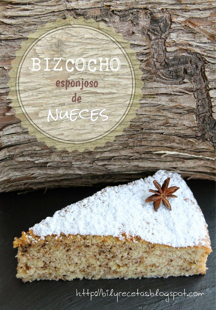 Bilyrecetas: Bizcocho esponjoso de nueces
