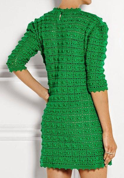 andrea croche: vestido de croche com grafico