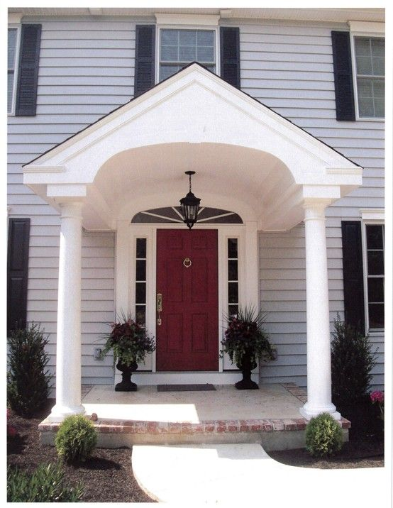 Best 25 portico entry ideas on pinterest front door for Portico porch designs