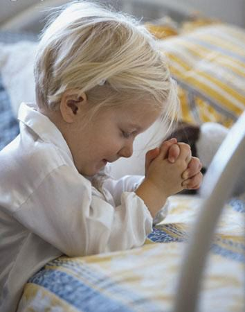Teaching kids to pray. Great ideas in the comments too.