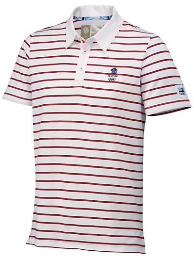 Buy Team GB Men's Stripe Polo Shirt, White online at JohnLewis.com - John Lewis, £38
