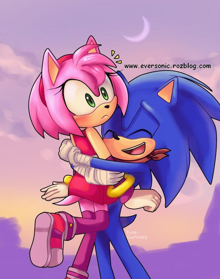 Image result for sonic and amy kiss sonic x amy sonic - Amy rose sonic x ...