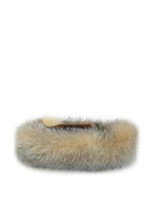 Sofia Cashmere Women's Fox Head Band, Crystal, One Size