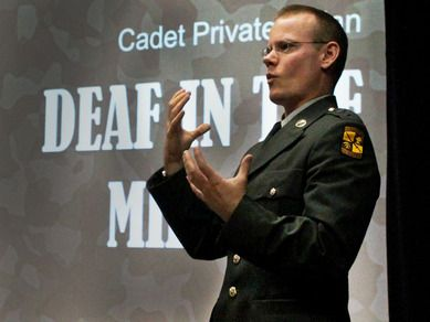 TED Talk - Deaf in the Military. I must watch this and find out what TED has on this one :)