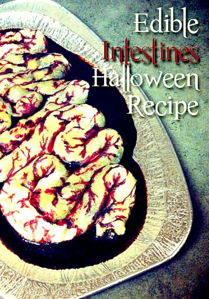 Edible Intestines Recipe - Perfect Halloween Party Recipe - Wanna Bite