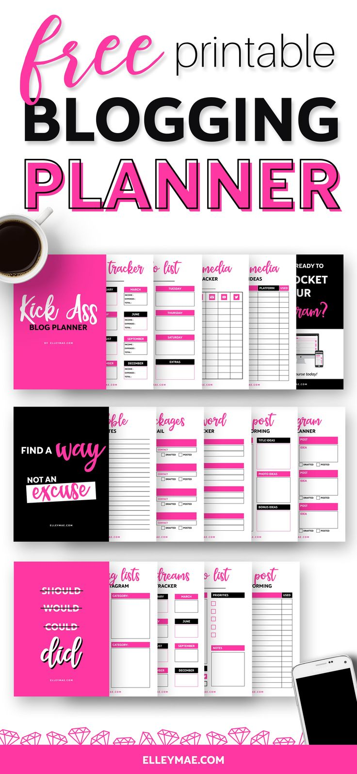 Ready To Kick Ass, Hey?Download your FREE Kick Ass Blog Planner below! INSTANT DOWNLOAD
