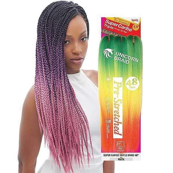 Janet Collection Pre Stretched Unicorn Crochet Braid Super