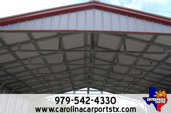 Metal Storage / Equipment Shelter - Carolina Carports - Visit www.carolinacarportstx.com