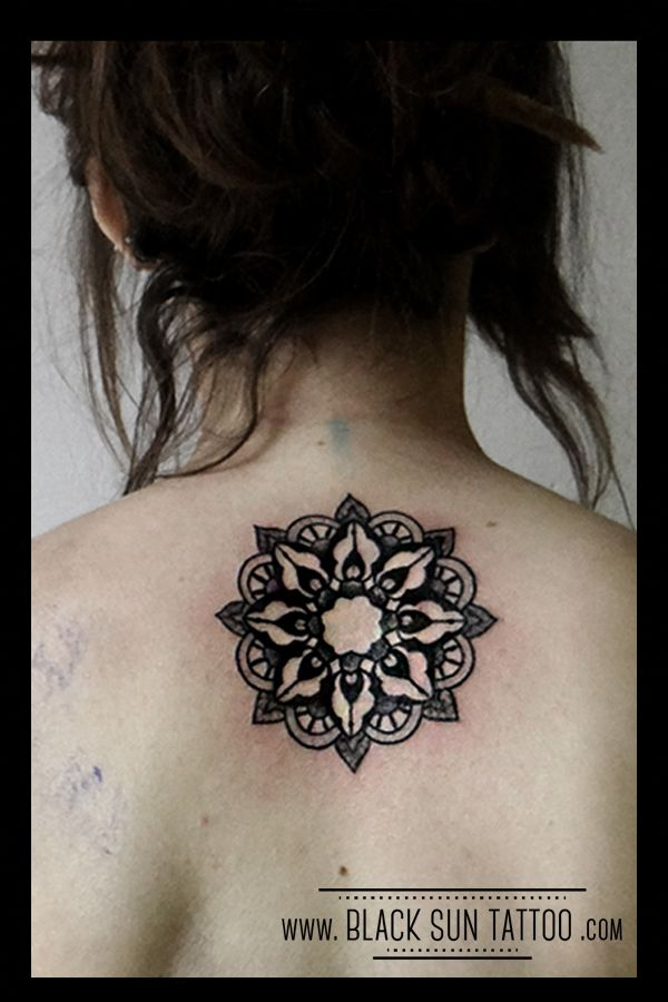 Tattoo by Black Sun Tattoo, Warsaw, Poland #mandala #mandalatattoo #geometrictattoo #dotwork #dotworktattoo #womenstattoo #mandaladotwork #blacksuntattoo
