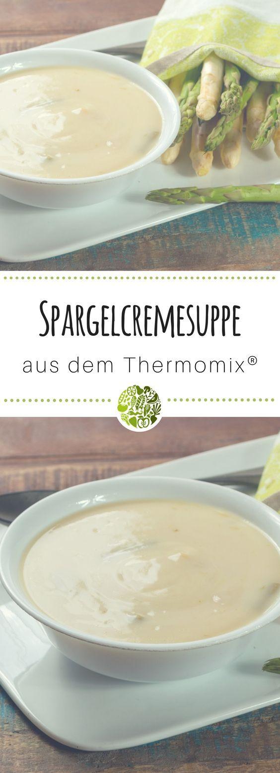 So einfach machst Du in nullkommanix die beste Spargelcremesuppe aus dem Thermomix®️ – schnell, lecker gesund! Geeignet für TM31 und TM5 #willmixen #thermomix