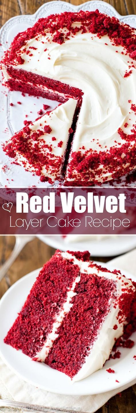 Red velvet cake with a nice creamy cheese middle. Try this dessert out this weekend!