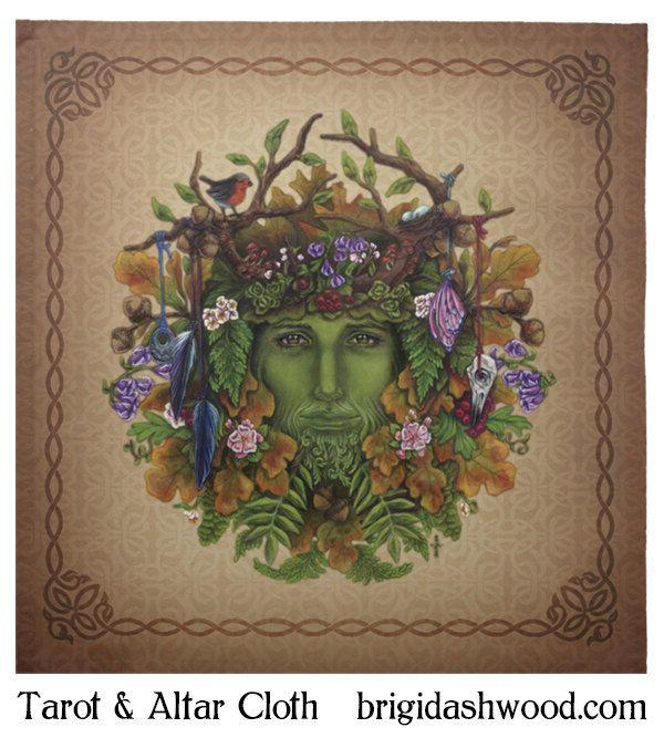 Greenman Tarot ou un linge d'autel païen Wiccan par BrightArrow