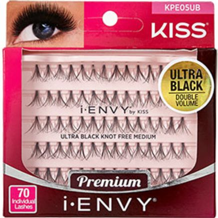Kiss i-ENVY Premium Individual Eyelashes 70 Lashes - Knot Free Ultra Black Medium #KPE05UB $3.59 Visit www.BarberSalon.com One stop shopping for Professional Barber Supplies, Salon Supplies, Hair & Wigs, Professional Product. GUARANTEE LOW PRICES!!! #barbersupply #barbersupplies #salonsupply #salonsupplies #beautysupply #beautysupplies #barber #salon #hair #wig #deals #Kiss #iENVY #Premium #Individual #Eyelashes #70Lashes #KnotFree #Ultra #Black #Medium #KPE05UB