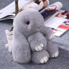 Rex играть мертвых норки меха кролика плюшевых рюкзак сумка подвеска брелок украшения маленький кролик подвесные украшения