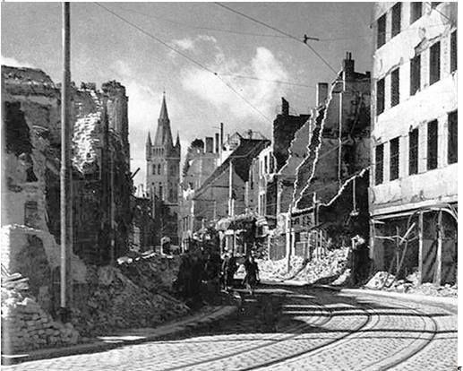 Koenigsberg. Franzoesische Strasse. 1944