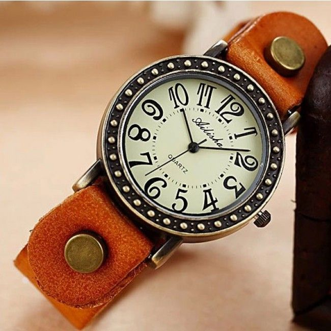 Wow! Retro Punk Style Retro Leather Watch only $23.99 from Atwish.com! I like it so much!!
