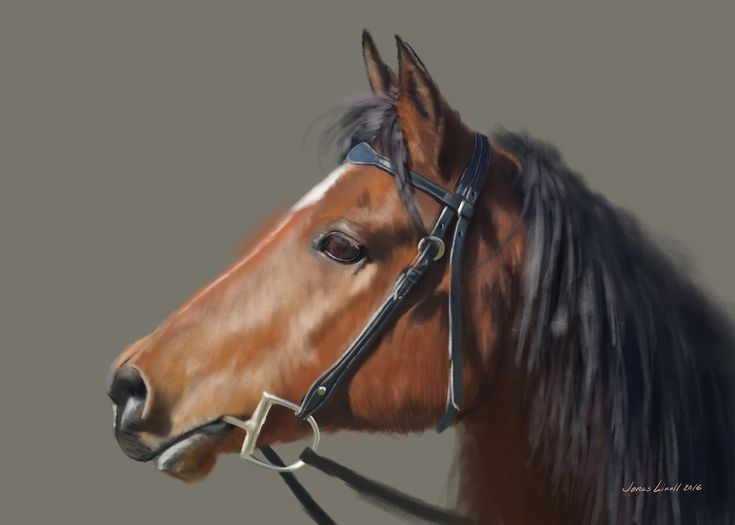 Horse study. Painting by Jonas Linell 2016.