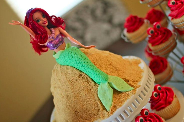Princess Ariel Doll Cake | lissables.com: Cakes I D, Doll Cake, Anna S Cakes, Beautiful Cake, Cake Inspirations, Cake Decorating, Cakes Decorating
