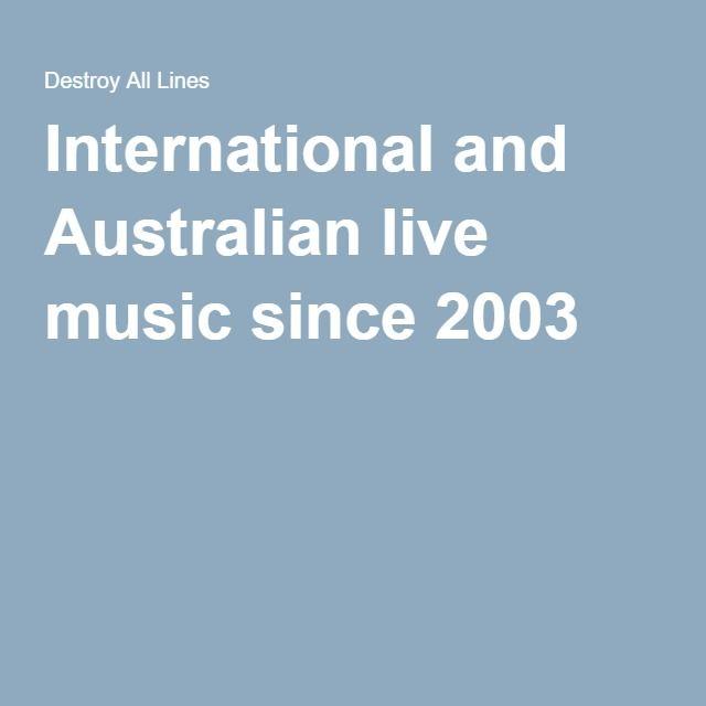 International and Australian live music since 2003