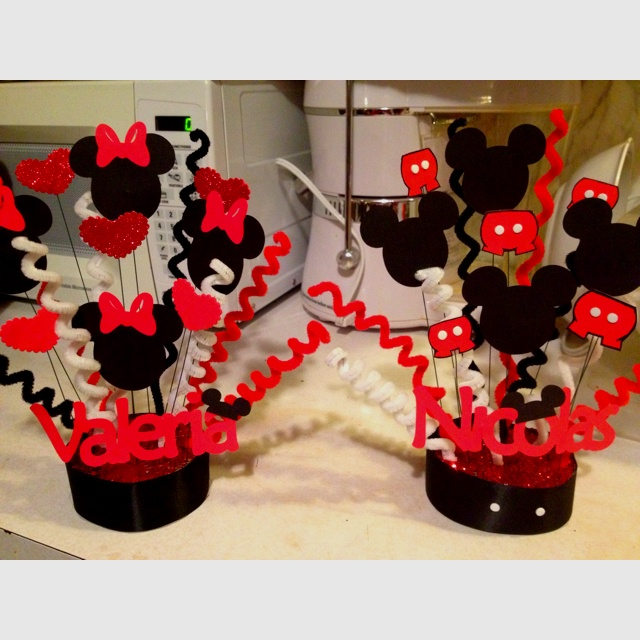 133 best images about minnie mouse themed christening on for Deco mickey