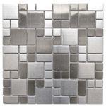 Modern Cobble Pattern Stainless Steel Mosaic Tile  EMT_MM18-SIL-SM $19