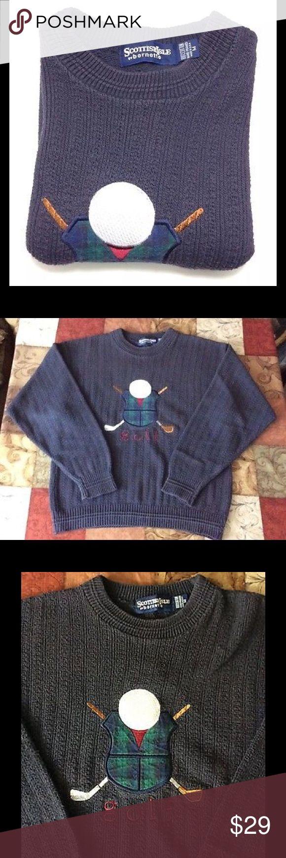 Scottish Isle Vintage GOLF Sweater Medium Crewneck Scottish Isle Vintage GOLF Sweater Medium Crewneck. scottish Isle Sweaters Crewneck