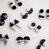 ceramic clay earrings  κεραμικά σκουλαρίκια