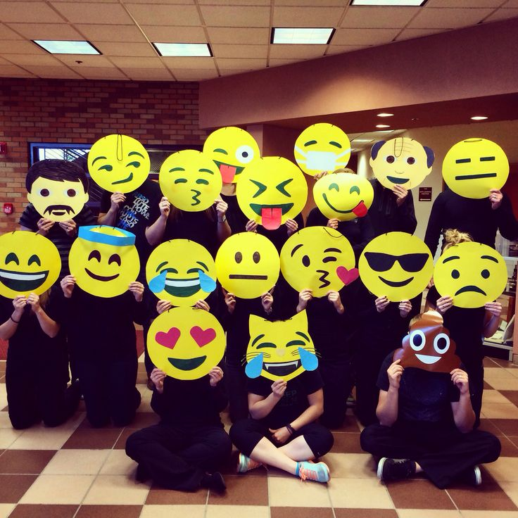 Group emoji costume! Cute!