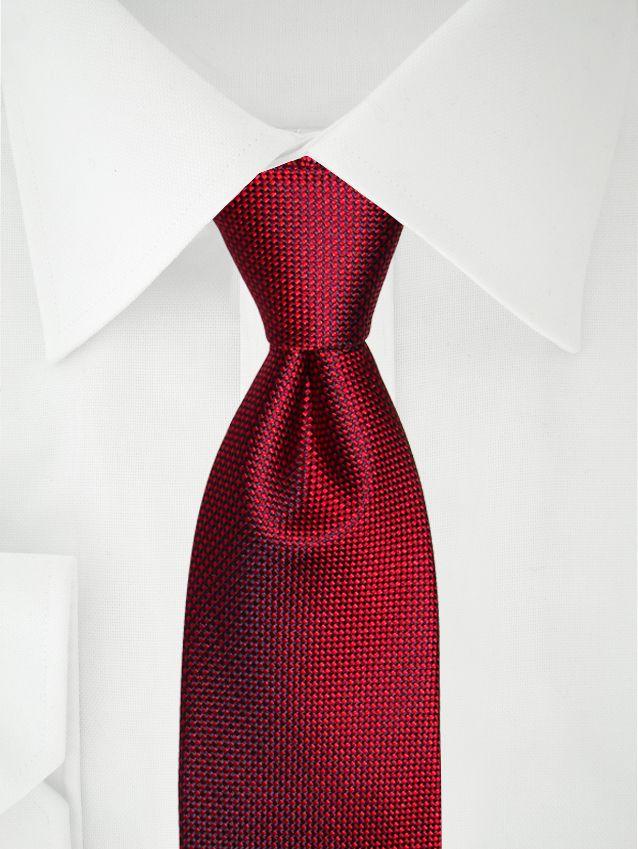 Zweifarbig rote Krawatte