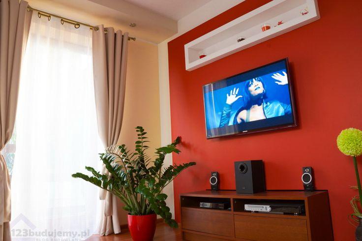 Zabudowa telewizora, ściana tv 123budujemy blog budowlany, budowa domu - porady budowlane.  Pomysł na niebanalną ścianę z telewiozorem