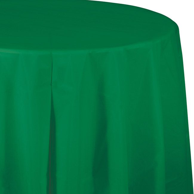 Green Plastic Round Tablecloth Round Table Covers Round Tablecloth Table Covers
