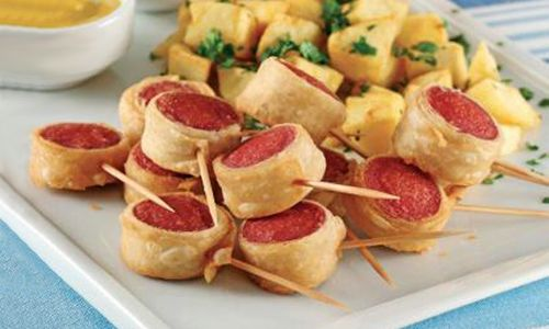 Sosisli börek tarifi   Yemek Tarifleri