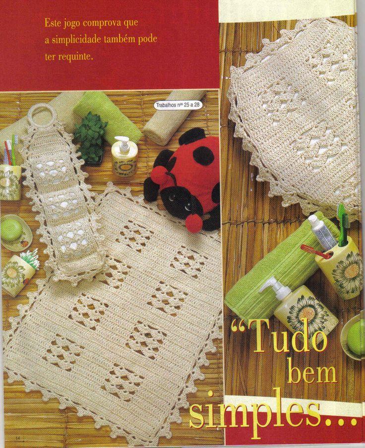 Juegos De Baño Regina:1000+ images about Crochet: Juegos de Baño on Pinterest