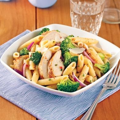 Salade de pennes, poulet et brocoli - Recettes - Cuisine et nutrition - Pratico Pratique