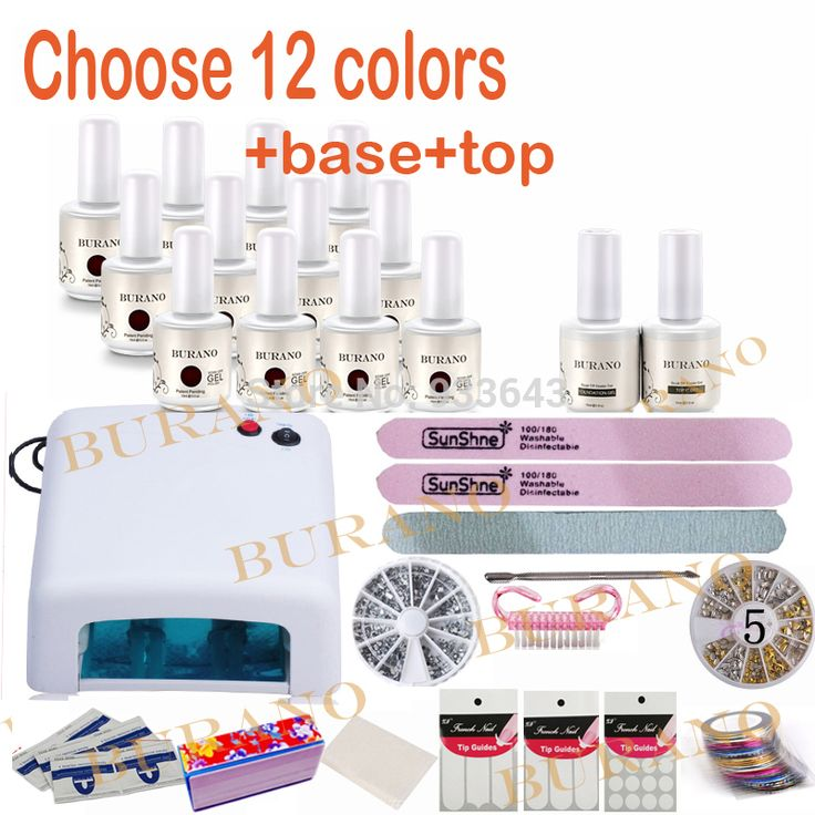 ==> [Free Shipping] Buy Best Burano choose 12 colors Uv nail kit set Gel nail kit Polish Manicure set diy art tools nail tools set for nail gel new 120colors Online with LOWEST Price | 32259012908