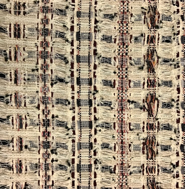 | Mahlia Kent : Fall/ Winter 2016 | ID#: D100132, OTONS JM International Group Office: 323-376-0625 www.JMinternation... #JMinternational #pattern #fabric #fabrics #tweed #texture #textile #mahliakent #parisian #HauteCouture #latextileshow