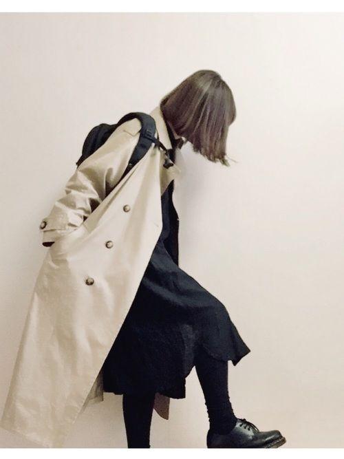 JOURNAL STANDARD relumeのトレンチコート「60/2コーマギャバ オーバートレンチコート#」を使ったこはる。のコーディネートです。WEARはモデル・俳優・ショップスタッフなどの着こなしをチェックできるファッションコーディネートサイトです。