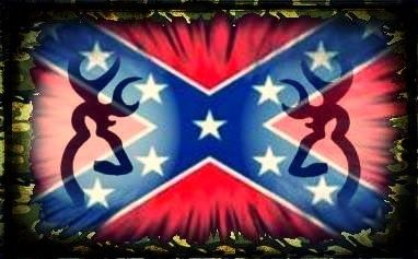 Rebel flag, camo border, and deer | Red red red redneck | Pinterest