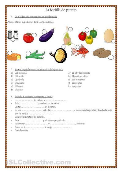 La tortilla de patatas trabajos - Hojas de trabajo  de ELE gratuitas espagnol.hispania.over-blog.com